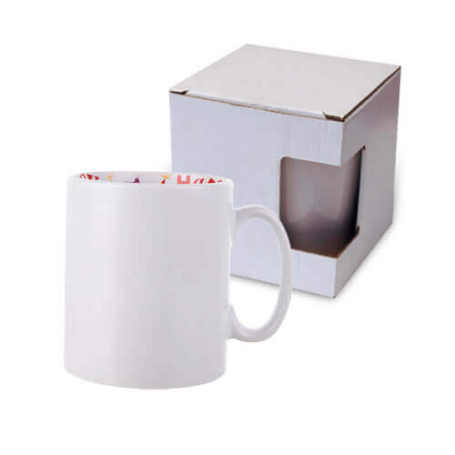Mug 300 ml with the Happy Birthday inside with box Sublimation Termotransfer