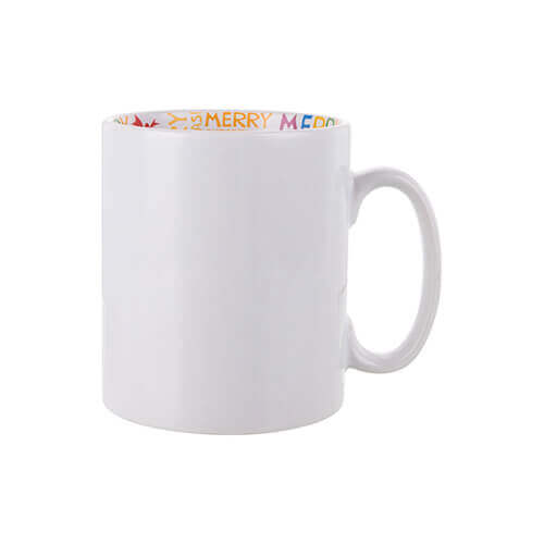 Mug 300 ml with the Merry Christmas inside Sublimation Termotransfer
