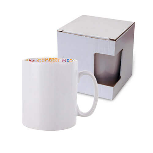 Mug 300 ml with the Merry Christmas inside with box Sublimation Termotransfer
