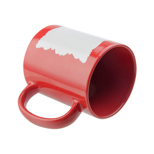 Mug 330 ml with sublimation frame - red