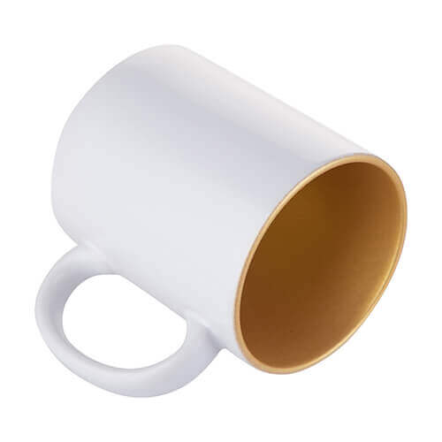 Mug 330ml with gold interior Sublimation Thermal Transfer