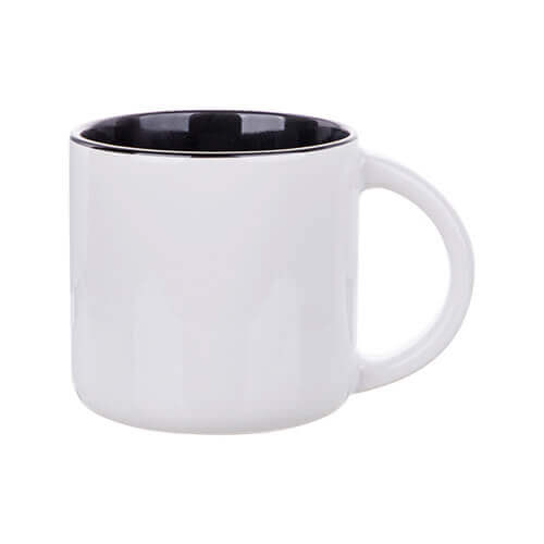 Mug 400 ml with black interior for sublimation printing
