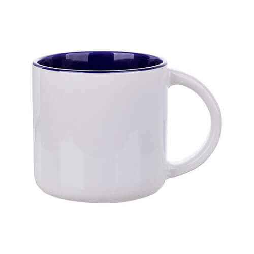 Mug 400 ml with dark blue interior for sublimation printing