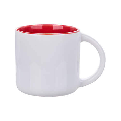 Mug 400 ml with red interior for sublimation printing