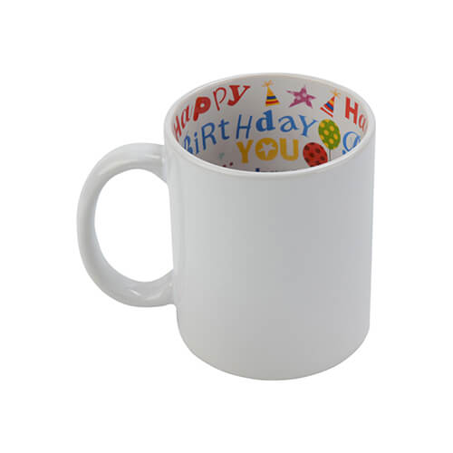 Mug A+ 330 ml with the Happy Birthday inside Sublimation Termotransfer