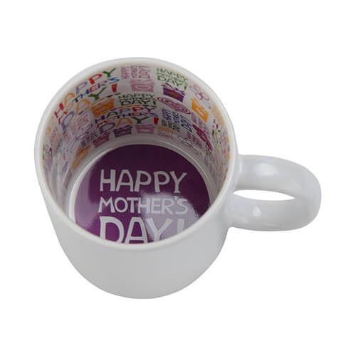 Mug A+ 330 ml with the Happy Mother's Day inside Sublimation Termotransfer