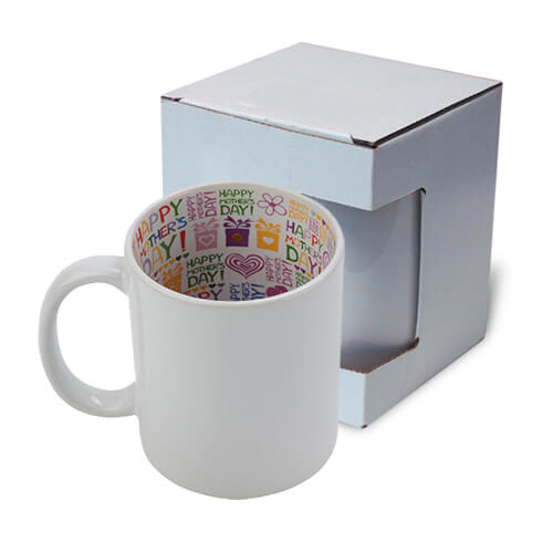 Mug A+ 330 ml with the Happy Mother's Day inside with box Sublimation Termotransfer