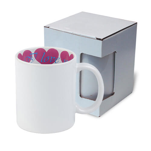 Mug A+ 330 ml with the I love You inside with box Sublimation Termotransfer