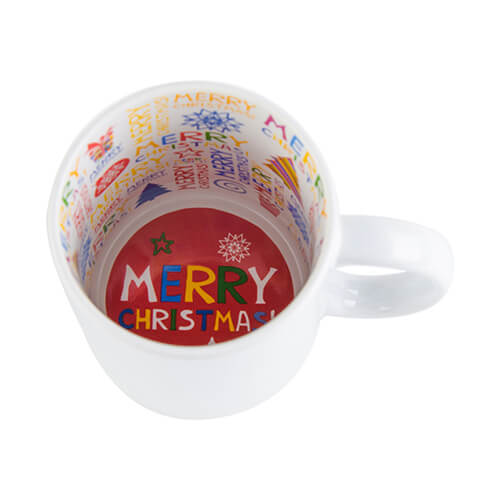 Mug A+ 330 ml with the Merry Christmas inside Sublimation Termotransfer