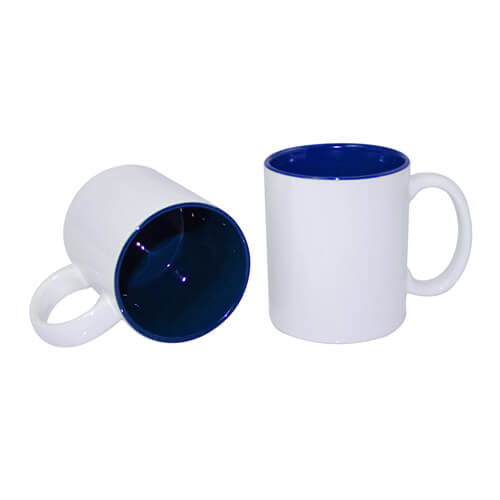 Mug A+ 330ml with dark blue interior Sublimation Thermal Transfer