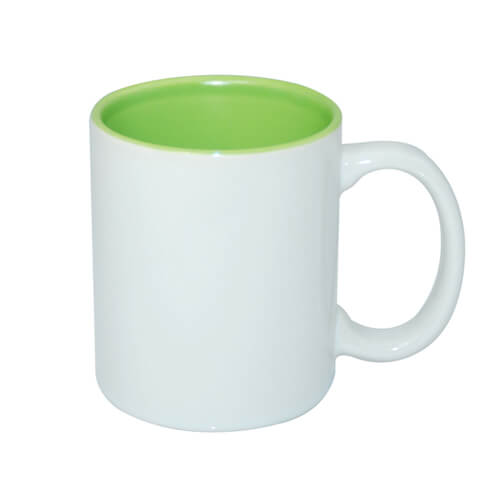 Mug A+ 330ml with light green interior Sublimation Thermal Transfer