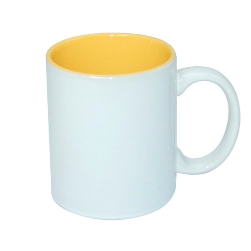 Mug ECO 330 ml with golden yellow interior Sublimation Thermal Transfer