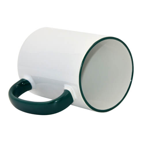 Mug MAX A+ 450 ml with green handle Sublimation Thermal Transfer