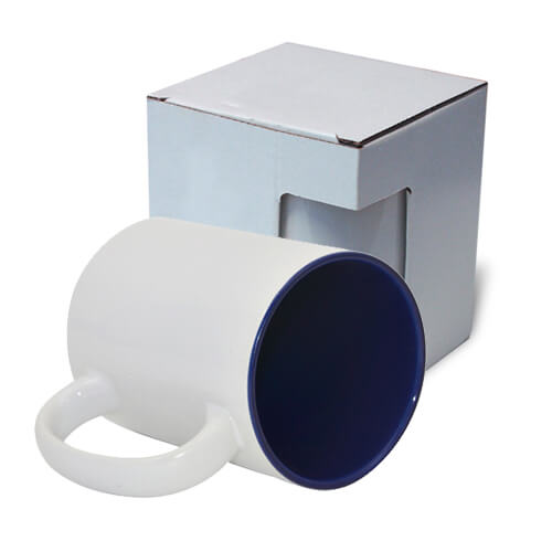 Mug MAX A+ 450 ml with navy blue interior with box KAR5 Sublimation Thermal Transfer