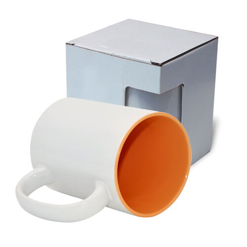 Mug MAX A+ 450 ml with orange interior with box KAR5 Sublimation Thermal Transfer