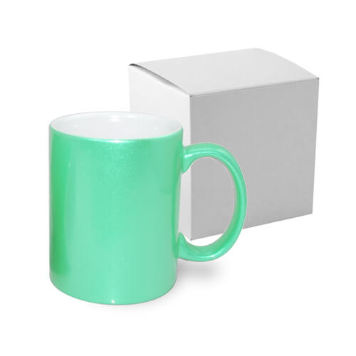 Mug Metalic 330 ml light green with box Sublimation Thermal Transfer