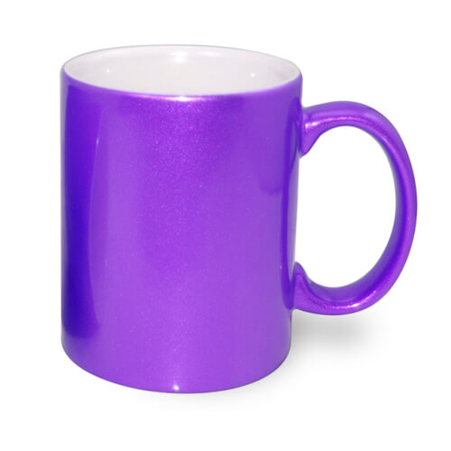 Mug Metalic 330 ml purple Sublimation Thermal Transfer