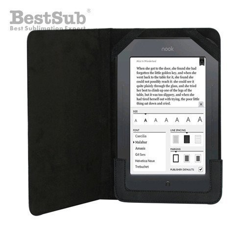 NOOK Color black leather case Sublimation Thermal Transfer
