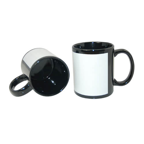 Patch mug 330 ml black Sublimation Thermal Transfer