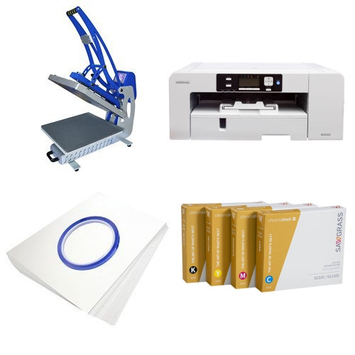 Printing kit for T-shirts Sawgrass Virtuoso SG800 + CLAM-C45 ChromaBlast