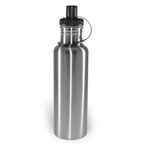 Silver tourist water bottle MAX 750 ml Sublimation Thermal Transfer