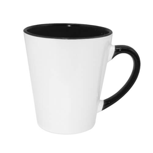 Small FUNNY Latte mug black Sublimation Thermal Transfer