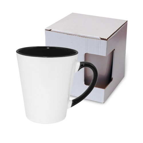 Small FUNNY Latte mug black with box KAR3 Sublimation Thermal Transfer