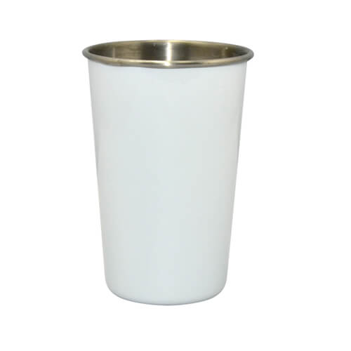 Stainless steel mug white Sublimation Thermal Transfer