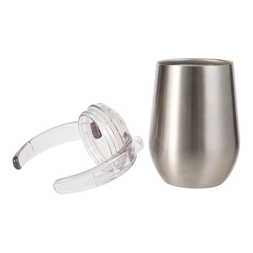 Stainless steel non-spill mug 300 ml for sublimation - silver