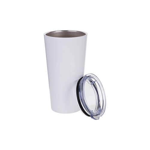 Thermal tumbler 480 ml stainless steel for sublimation - white