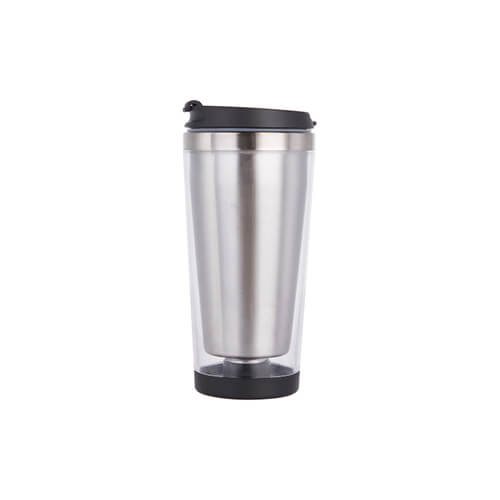 Tumbler 450 ml made of stainless steel with photo insert