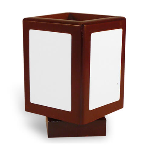 Turnable pencil holder with metal plates Sublimation Thermal Transfer