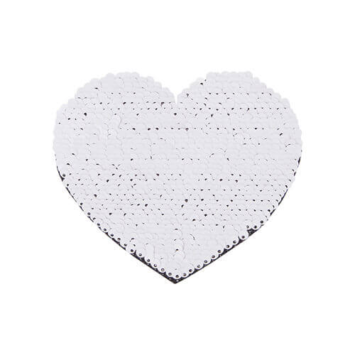 Two-colour sequins for sublimation printing and textile applications – blue heart 12 x 10,5 cm