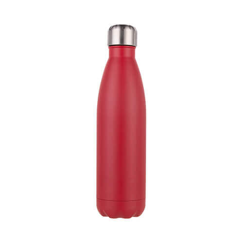 Water bottle - bottle 500 ml for sublimation printing – red mat