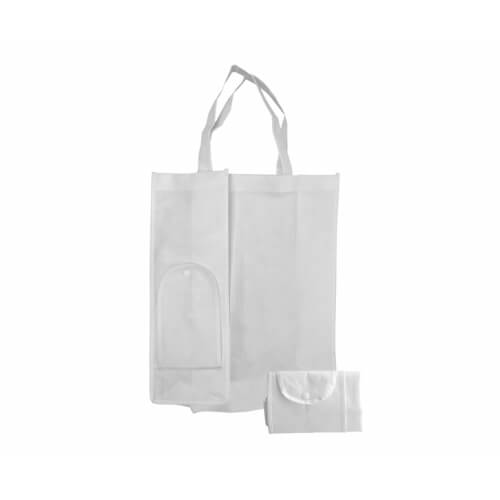 White foldable Eco bag 31 x 39 x 12 cm Sublimation Thermal Transfer