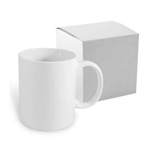 White porcelain mug 330 ml with box Sublimation Thermal Transfer