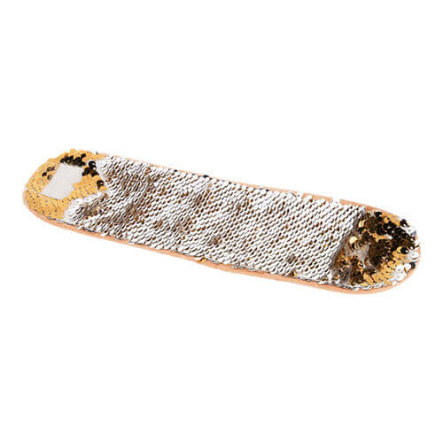 Wristband with two-colour sequins for sublimation - gold