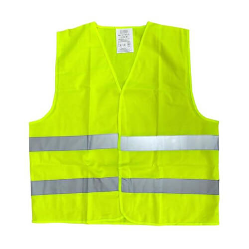 Yellow high-visibility vest Sublimation  Thermal Transfer