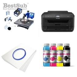 Kit multifunction Epson WF-7110DTW + SD68 Sublimation Transfert Thermique