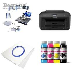 Kit multifunction Epson WF-7210DTW + SD72 Sublimation Transfert Thermique