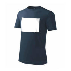 PATCHIRT T­-shirt pour la sublimation en coton - rectangle horizontal - bleu marine