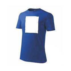 PATCHIRT T­-shirt pour la sublimation en coton - rectangle vertical - bleu