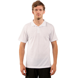T-shirt Polo Basic pour sublimation - blanc