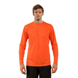 T-shirt Solar Manches Longues Homme pour sublimation - Safety Orange