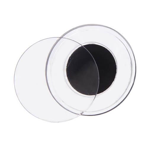 cadre photo en acrylique avec aimant rond cercle. Black Bedroom Furniture Sets. Home Design Ideas