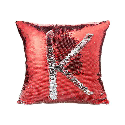 housse de coussin sequins 40 x 40 cm pour sublimation rouge rouge textiles housses de. Black Bedroom Furniture Sets. Home Design Ideas