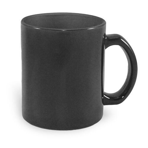 mug magique en verre noir 330 ml sublimation transfert. Black Bedroom Furniture Sets. Home Design Ideas