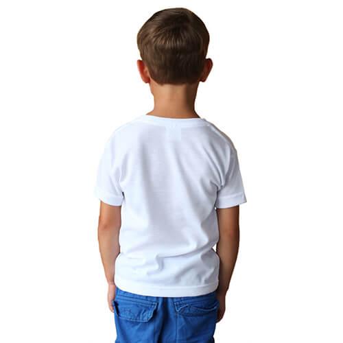t shirt basic manches courtes enfant pour sublimation blanc textiles tee shirts blanc. Black Bedroom Furniture Sets. Home Design Ideas